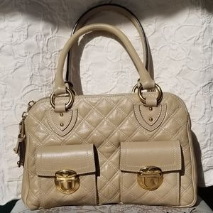 Marc Jacobs Quilted Leather Handbag, Almond
